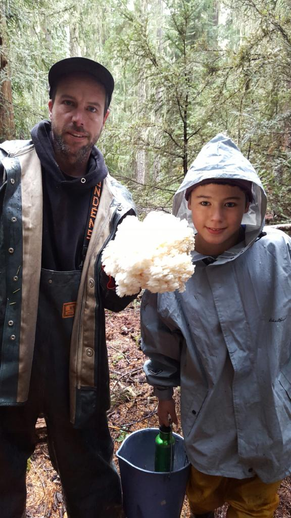 Integrity Owner, Malcolm Schubert, with son, Ladd, Mushroom Hunting in Oregon